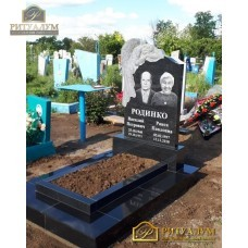 Памятник резной из гранита ЧПУ «Скорбящий с розами» семейный — ritualum.ru