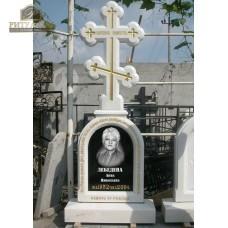 Памятник (крест) из белого мрамора №8